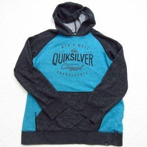 Quick Silver Kid's Hoodie Blue/Gray Speckled L  A1